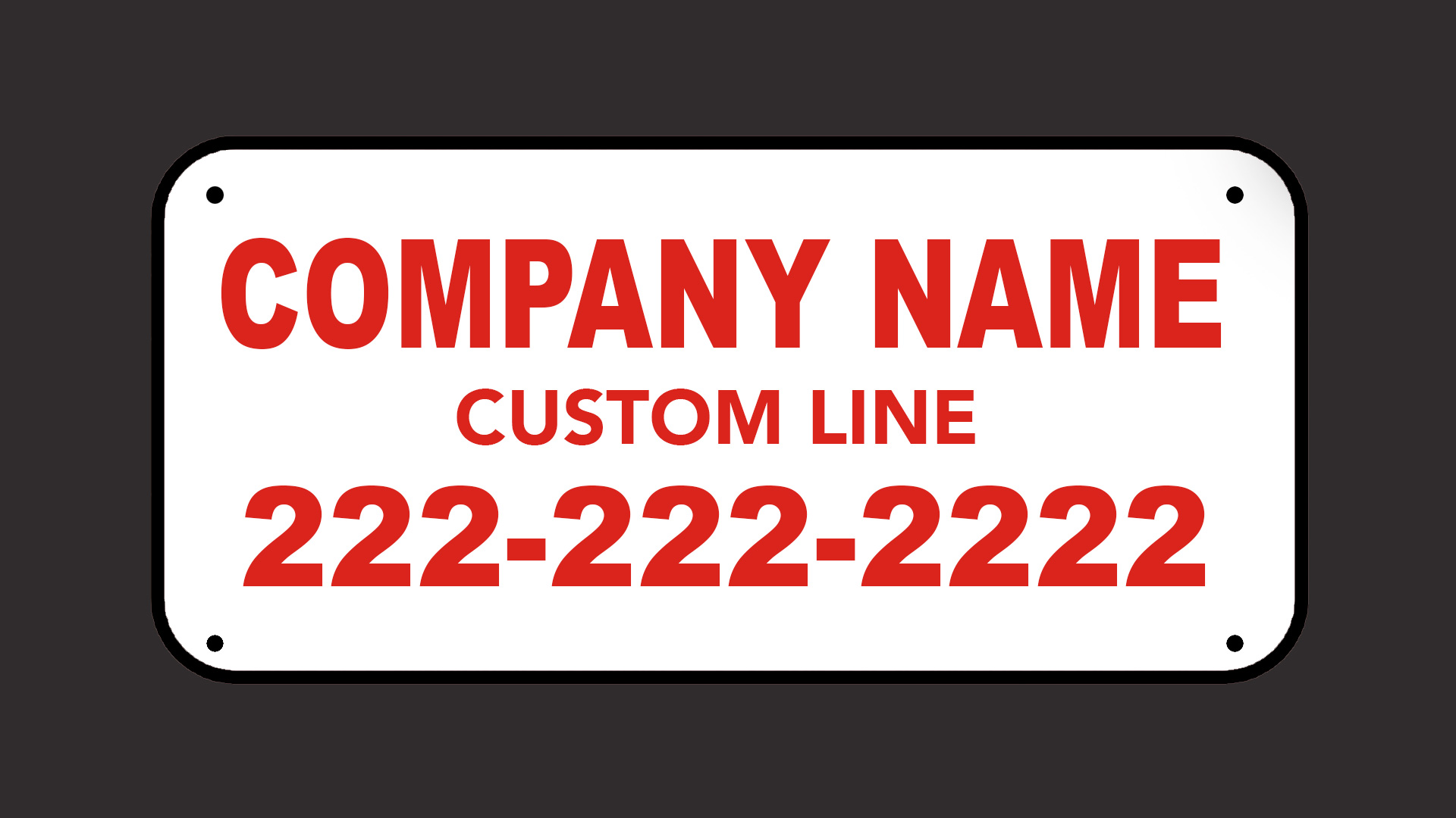 Red Fence Sign Color Option